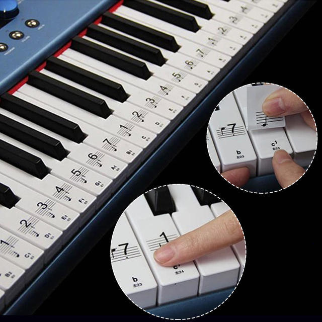 Piano Keyboard 61Keys Electronic Keyboard 88Keys Stickers Music Decal Label Note Learn Biginners Kid 4