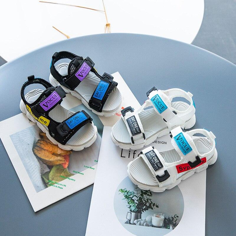 2019 petite fille garçon été nouvelles chaussures pour enfants ruban enfants sandales de sport garçons et filles mode chaussures de plage antidérapantes