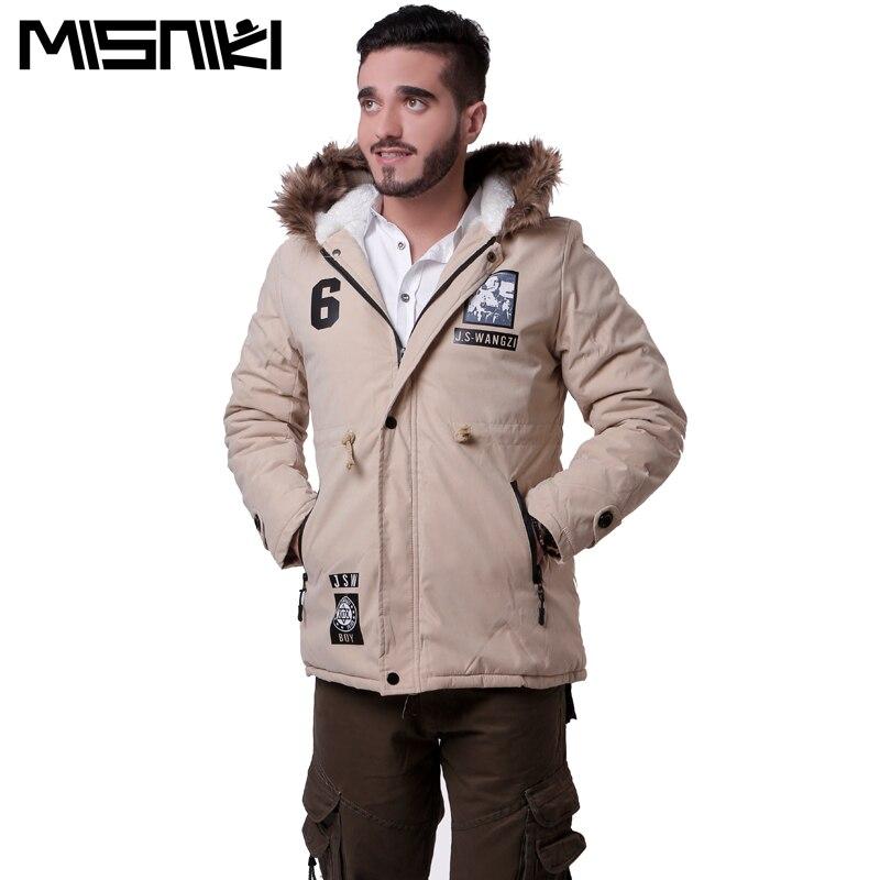 MISNIKI 2017 men winter jacket fashion fur hooded cotton padded thick coat outwear overcoat S-3XL JPMY02
