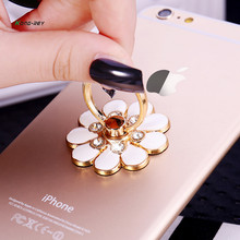Universal 360 Rotating leuke Cartoon Rhinestone Mobiel Accessoires Vinger Ring Stent Mobiele telefoon houder stand voor iphone phon(China)