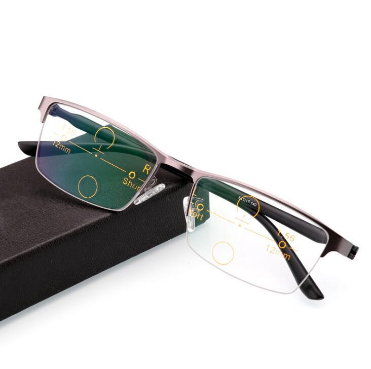a27f669754 JN impresión progresivo gafas de zoom inteligente gafas de lectura hombres  para lector de dióptero de Vista lejana