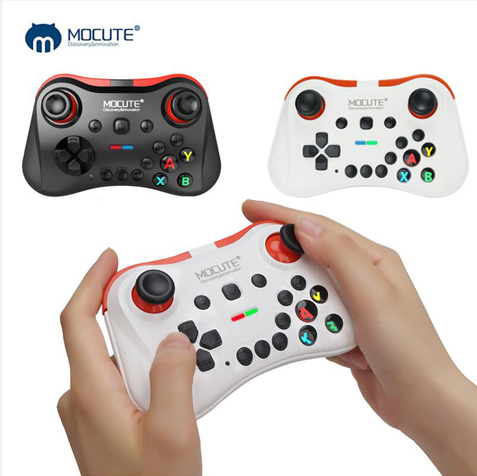 Mocute 050 056 Wireless Gamepad Bluetooth joystick Android Controller VR Gamepad for Tablet PC Windows TV Box Android Smartphone mocute 052 bluetooth vr remote controller black