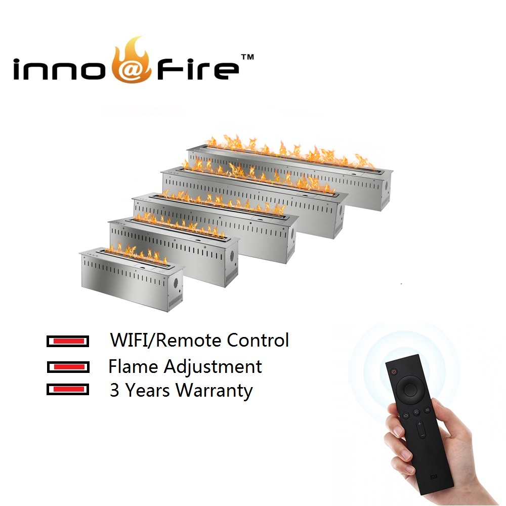 Inno-living 30  Inch Long Remote Control Intelligent Silver  Electric Ethanol Fireplace Stove