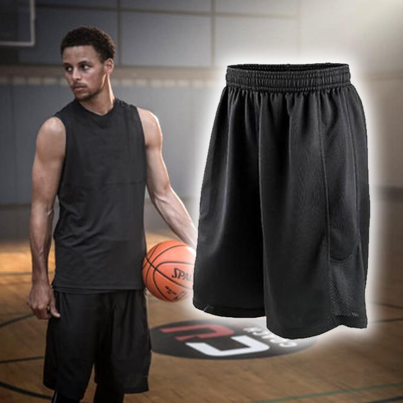 Черные баскетбольные шорты быстросохнущие дышащие тренировочные баскетбольные шорты Джерси спортивные беговые шорты Мужская спортивная одежда