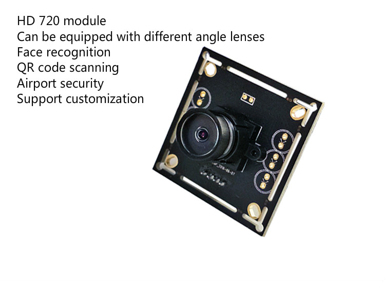 High definition 1 million high definition 720P camera module USB camera face recognition wide angle camera moduleHigh definition 1 million high definition 720P camera module USB camera face recognition wide angle camera module