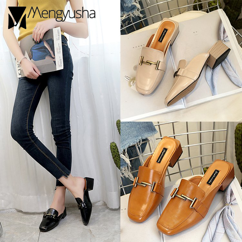 772217aad18 European-Famous-Brand-Women-Mules-Slippers-Metal-Buckle-Slides-Shoes -Lady-Square-Toe-Med-Thick-High.jpg