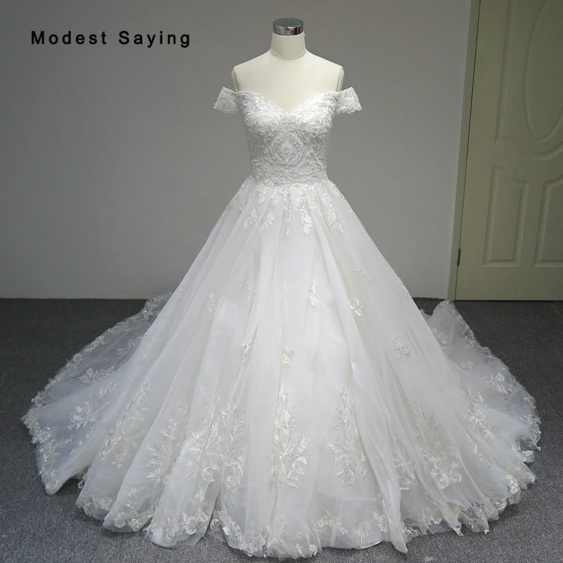 Luxury Ivory Ball Gown Sweetheart Lace Wedding Dresses