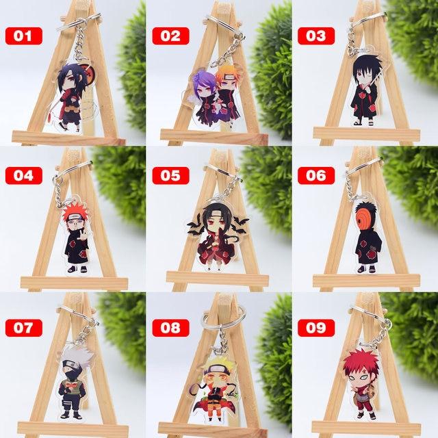 Cute Cartoon Keychain Naruto/My Hero Academia Key Chain Ring Anime Dragonball Keyring Hot Sales 1