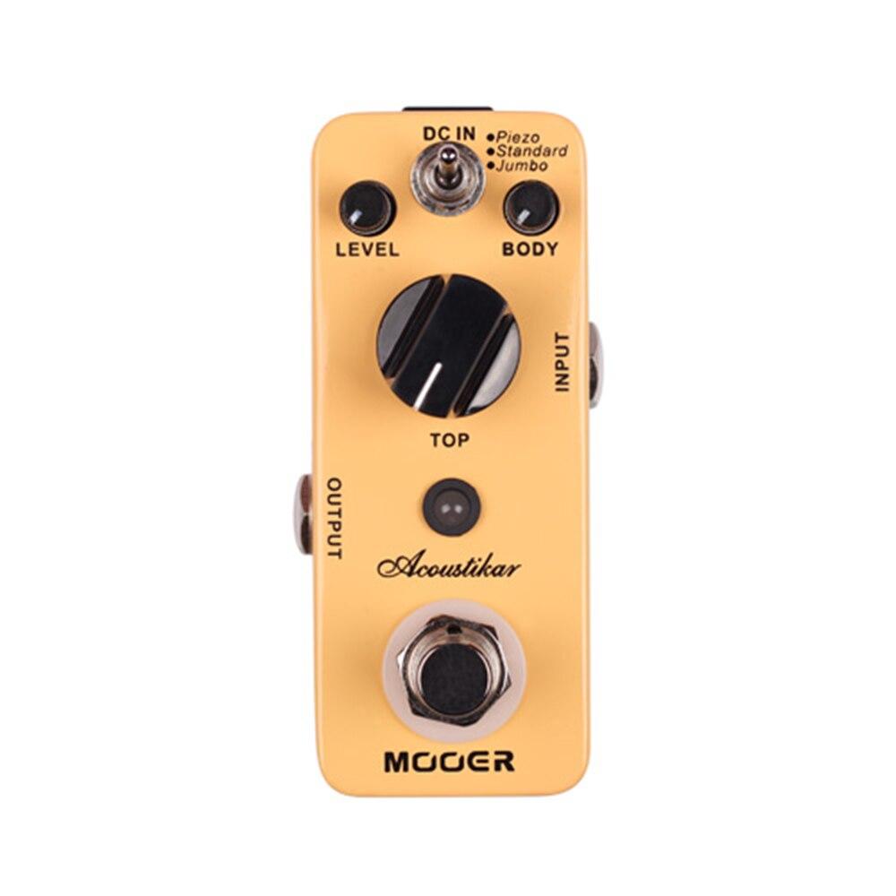Mooer Acoustikar pédale d'effet guitare véritable contournement avec 3 Modes Micro Mini acoustique guitare acoustique simulateur effet pédale MAC1