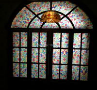 Custom size 60x80cm top grade Vintage European Style Art Translucent Self Adhesive stained Glass Film, Door Stickers