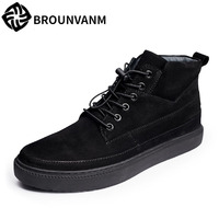 A Song Of Black High Supreme Leather Casual Shoes Shoes Men Boots British Fashion Casual Shoes