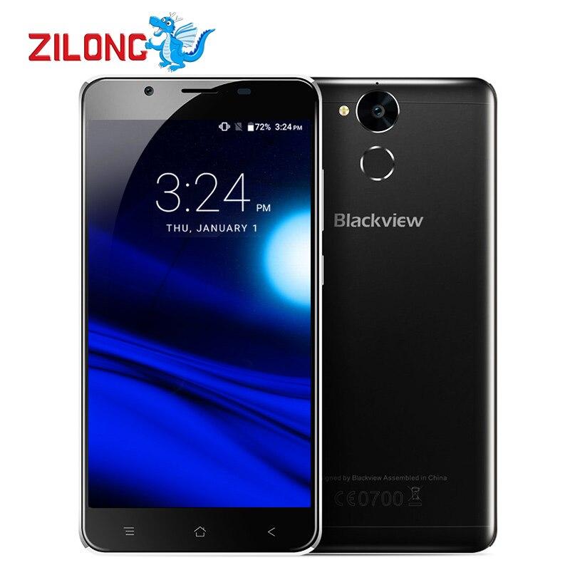 "Blackview P2 Lite Android 6.0 Mobile Phone MTK6753 Octa Core 5.5"" FHD 3GB RAM 32GB ROM 13MP 6000mAh Fingerprint 4G Smartphone"