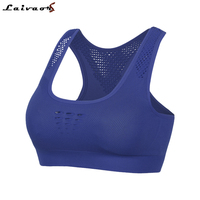 Professional Athletic Running Sports Bra Breathable Absorb Sweat Yoga Tops , Gym Fitness Women Sports top Seamless Padded Vest