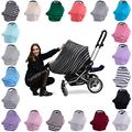 Cobertura Do Dossel Assento de Carro Do bebê e Capa De Enfermagem Multi-Uso Elástico 3 em 1 Presente