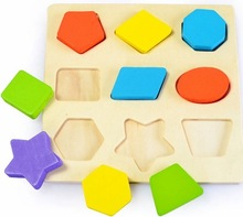 Geometry Blocks Baby Kids Wooden Learning Educational Toy  Montessori Early Toys