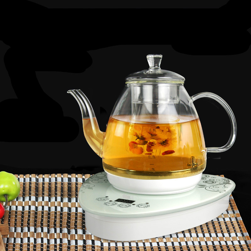 Electric kettle Glass raised pot split body electric kettle fully automatic flower teapot boiled Overheat Protection цена и фото