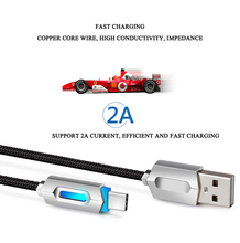 NEW Type-c phone USB Cable Smart change Light Data Sync Fast Charger Cable