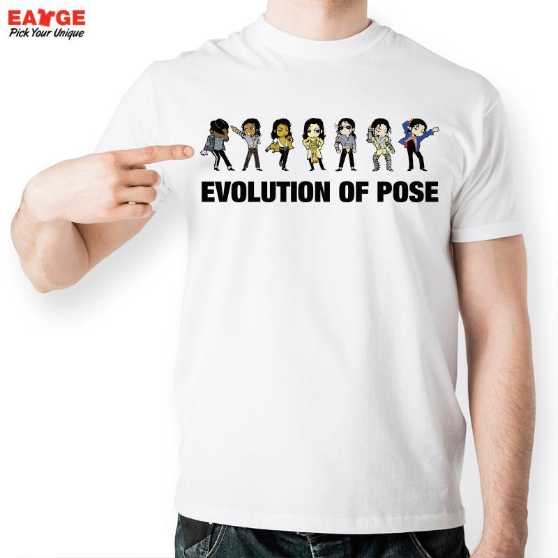 f5daf3804573d0  EATGE  L évolution De Pose T-shirt Michael Jackson Mode Drôle T Shirt  Occasionnel Nouveauté T-shirt Hommes Femmes Style Tee