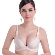 One-piece Polyester Smooth Surface Push Up Bras Comfortable Atrium Sexy Bra Seamless Wire Free Adjustasble BH Soutien Gorge
