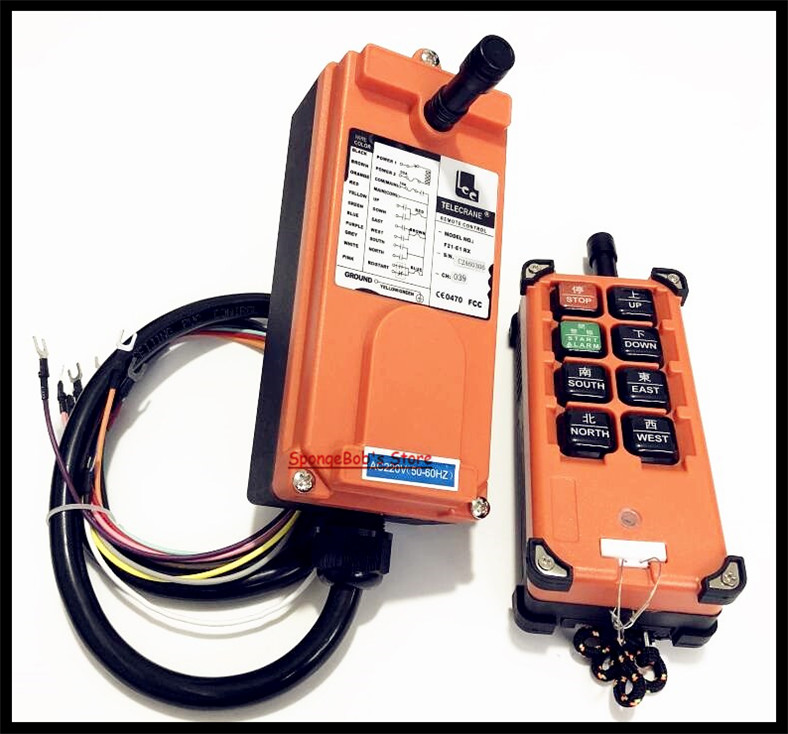 F21 E1B Transmitter x1 Receiver x1 Industrial Radio Remote Control Hoist Crane Control Lift Crane