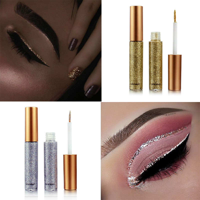 Glitter Women Shiny Long Lasting Eye Liner Waterproof Makeup Eyeliner Liquid Beauty Cosmetic Tool Gift For Girls Maquiagem