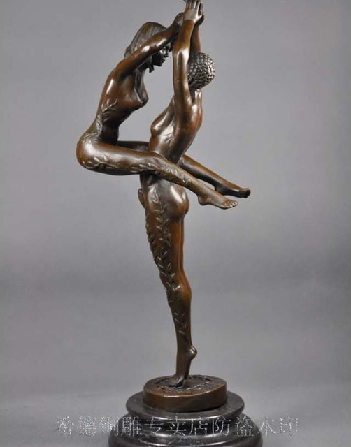 and nude man woman sculpture Bronze
