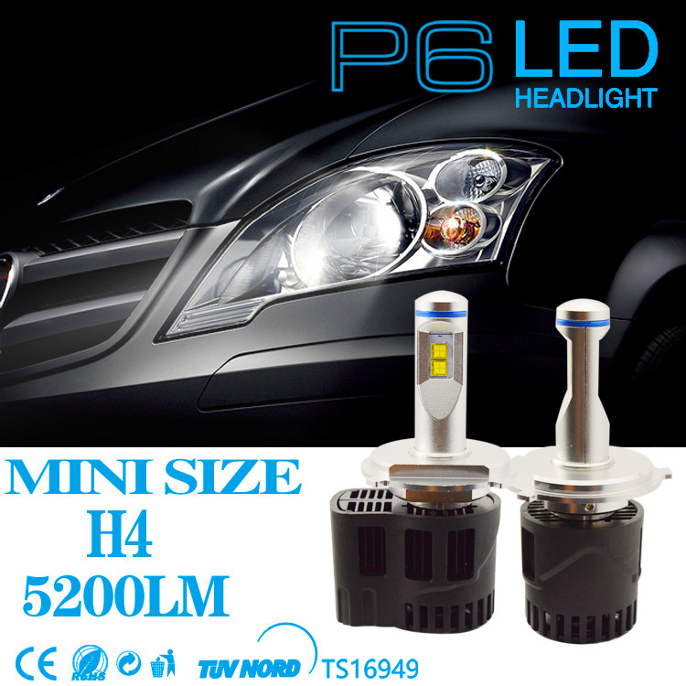 1 Set H4 Canbus Headlight Kits LED 6000K Canbus MZ Chip 110W 10400lm Car LED Bulb Headlamp Fog Light Conversion Headlight Kits h7 car led headlight bulb 100w 20000lm cob chip led auto headlight canbus headlamp automobile led head fog light 12v 24v 6000k