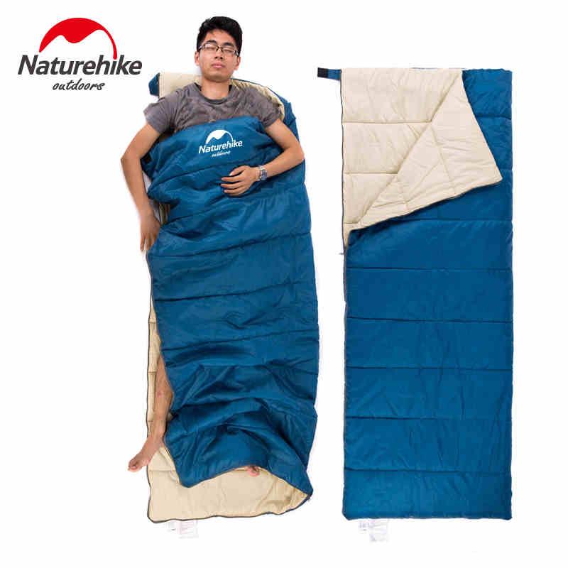 ФОТО Aduit Envelope Sleeping Bag Hollow Cotton Waterproof Coating Sleeping Bags Camping Primaloft Spring Autumn Summer Splicing 0.8kg