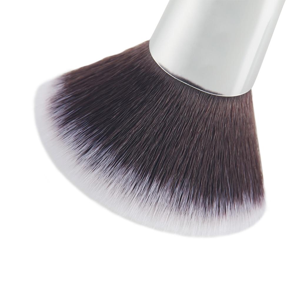 Jessup 7pcs Makeup børster Sæt Blå / Sølv Træ Håndtag Blanding - Makeup - Foto 4
