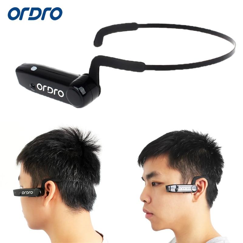 ФОТО ORDRO 5MP 16GB 1080P Full HD Action Mini Camera Bone Conduction Bluetooth Headset Cycling DV Video Recorder Camcorders