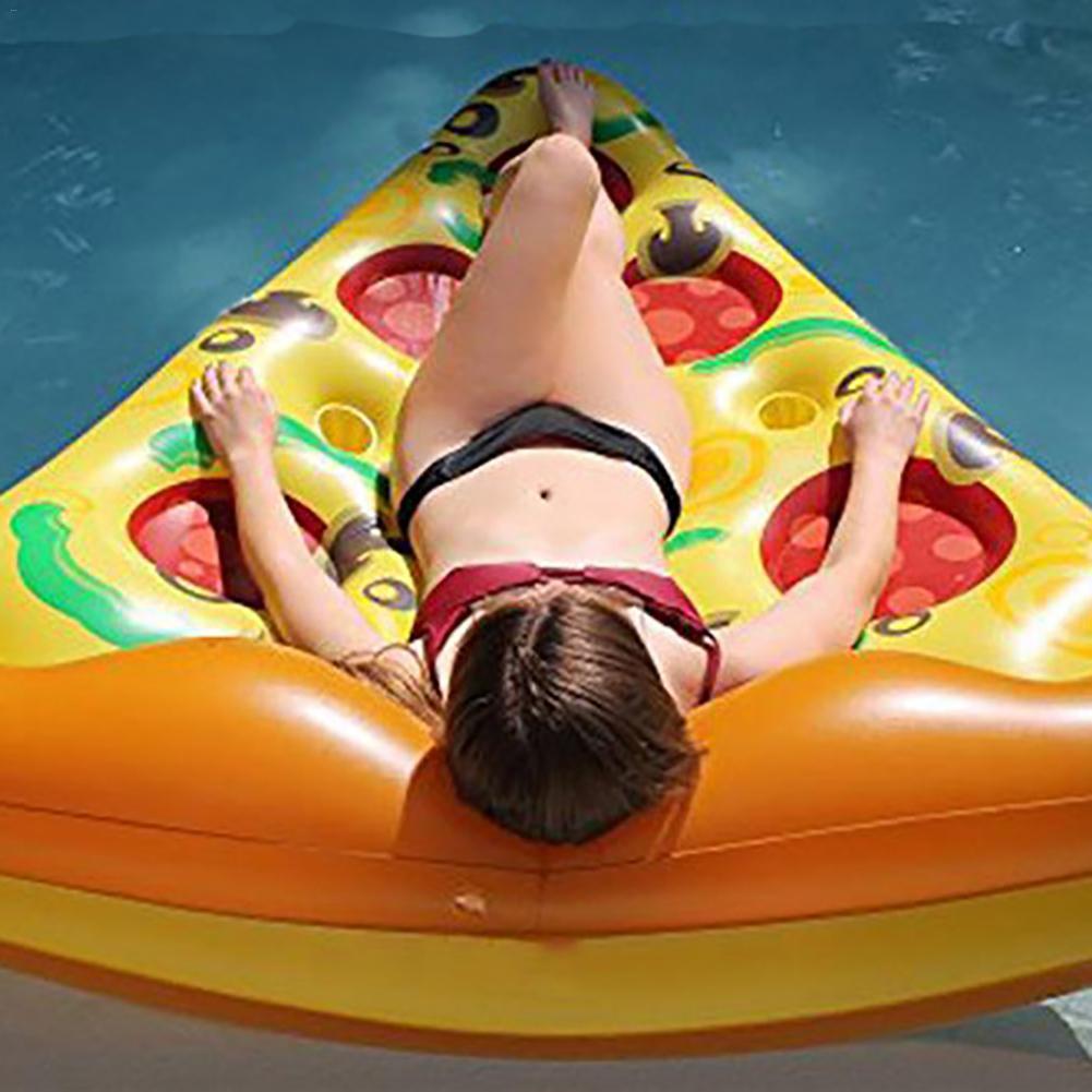 Inflável gigante pizza fatia piscina float para