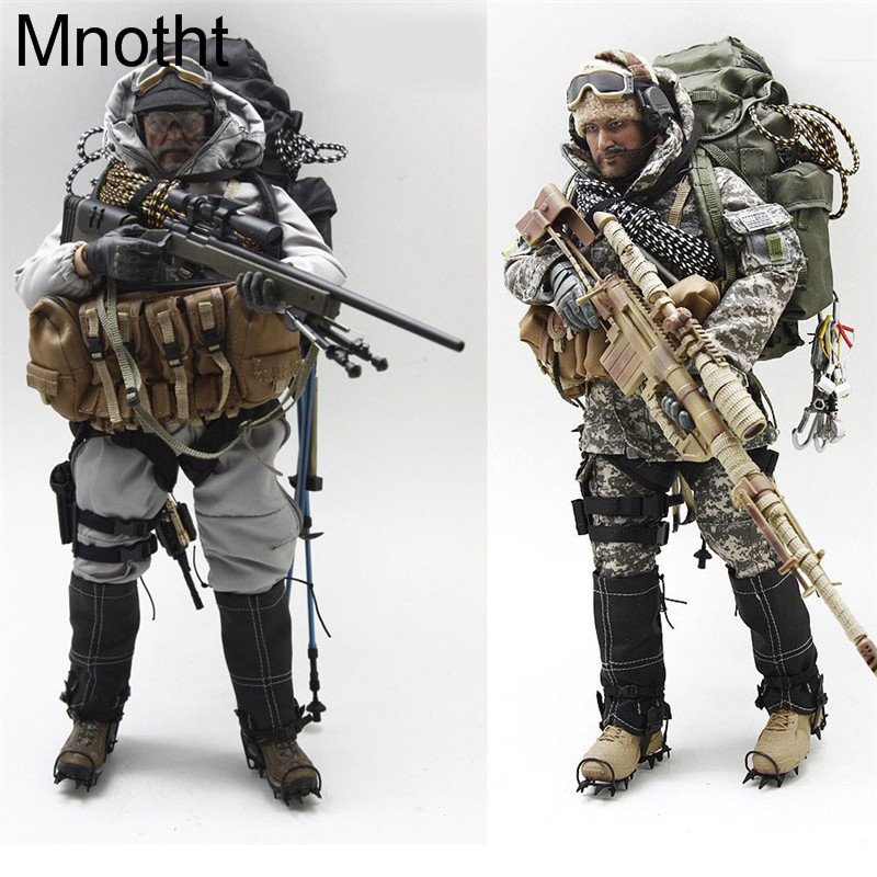 все цены на Mnotht 1/6 Male Solider Seals ACU Sniper Suit Set Clothes W/ Coat Pants Helmet Bag For 12in Action Figure toys l30 Model Gift онлайн