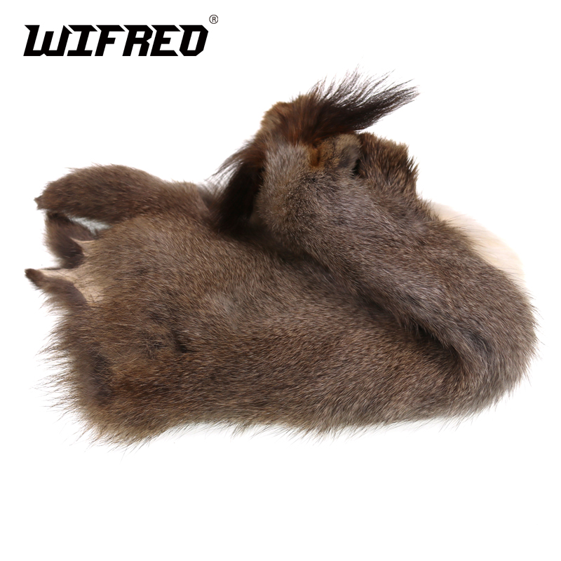 Wifreo 2PCS Natural Color Fly Tying Squirrel Fur For Nymph Fly Tying Trout Lure Making Dubbing Material