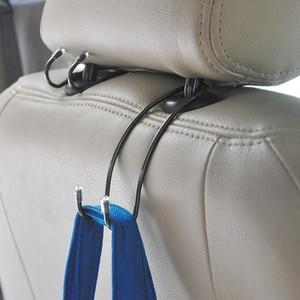 Image 4 - Car Seat Hook Auto Hidden Back Seat Headrest Hanger for Handbag Shopping Bag Coat Storage Hanger Car Accessories Hook Organizer