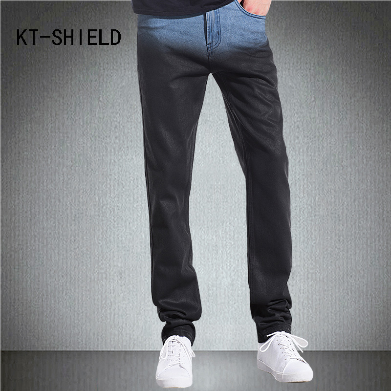 black Slim fit Straight denim pants men distressed ripped jogger biker motorcycle hombre jeans cotton hip hop homme trousers  new 2016 fashion mens cotton ripped jeans pants with rivet men slim fit white black hip hop distressed biker jeans z17
