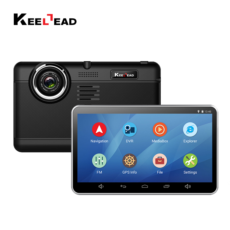 KEELEAD 7 Inch Android GPS Navigation Car DVR Capacitive
