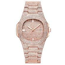 Роскошные женские часы со стразами хит продаж 2020 модные водонепроницаемые