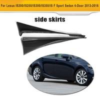Carbon Fiber Car Side Skirts Trims for Lexus IS200 IS250 IS300 IS350 IS F Sport Sedan 4 Door 2013 2016 2PC Car Styling