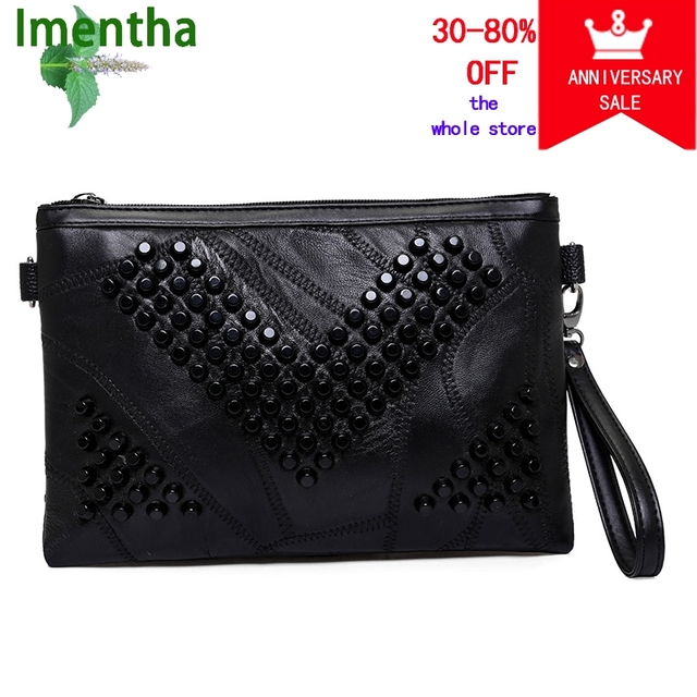 Hot 2018 Women Clutch Bag Black Purse Evening Bags For Leather Handbags Wedding