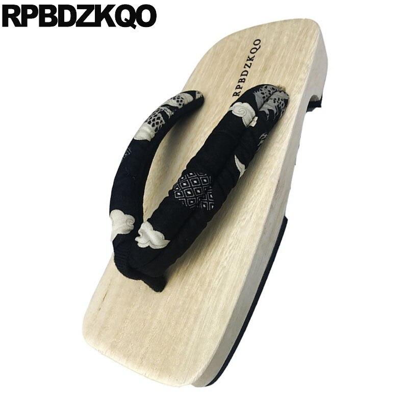 black Plataforma Verano Deslizamiento Diseñador Casual Diapositivas Hombres Zapatillas 45 46 Zapatos 1 black Sandalias Agradable De 2 Zuecos Japonés Playa Agua Tamaño Grande 3 En Black Geta f8a44w