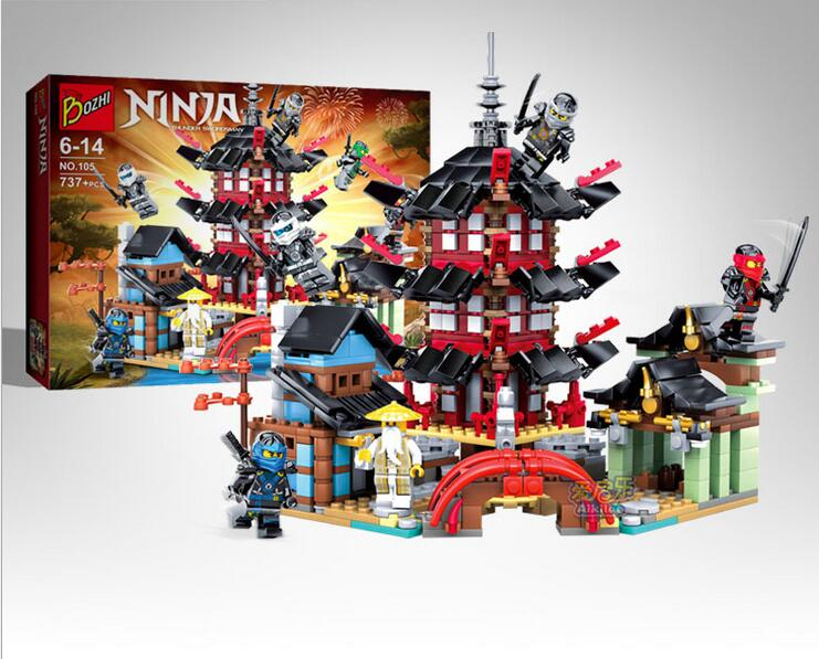 06022 Ninja City of Stiix Building Blocks 737pcs Temple Airjitzu Kids Bricks Toys Compatible With Lepingoed BL002