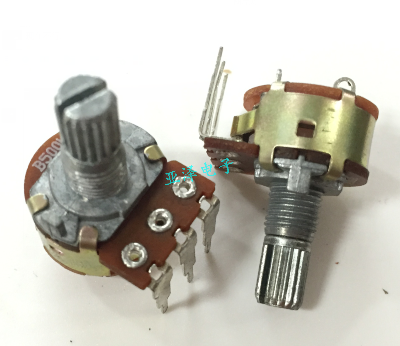 16 переключатель потенциометра с одним изгибом и выключателем B500K длина пилообразного стержня 15 мм
