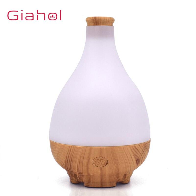GIAHOL 95ml USB Madeira LED Aroma Difusor de Ar Elétrica Ultrasonic Essencial Aromaterapia Óleo Umidificador Para casa Fabricante de Névoa Fria