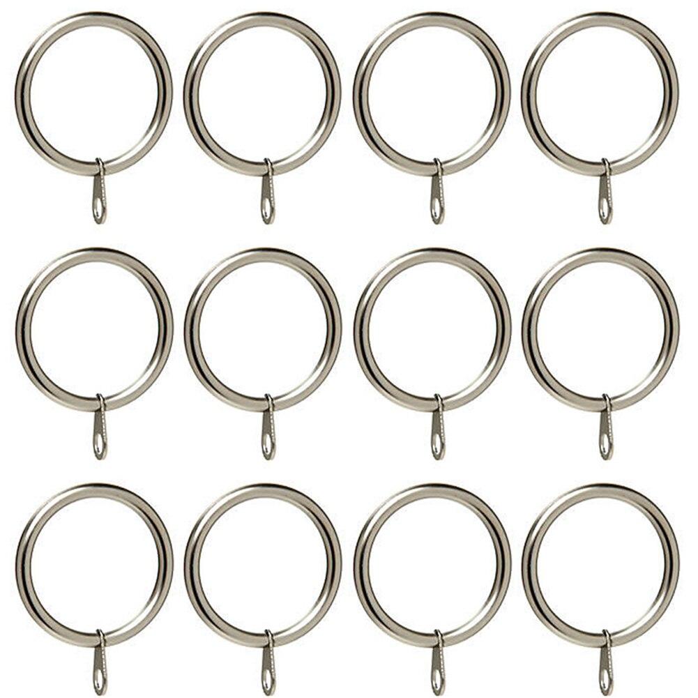 Brillant 30mm Praktische Haken Stange Fenster Silber Metall Vorhang Starke Hängen