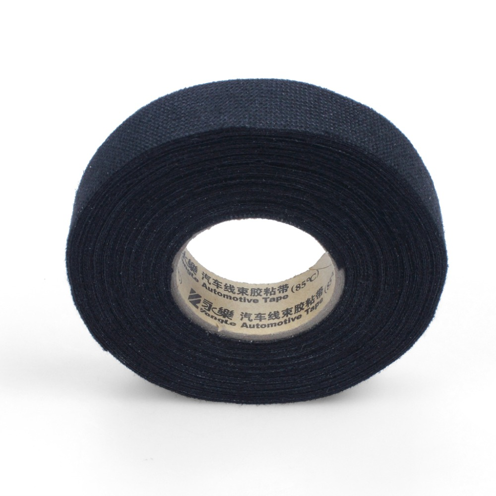2 X Wiring Harness Tape Heat Resistant Adhesive Cloth Fabric Auto Cable Looms For Car Motorcycle 15cm 19mm In Fillers Adhesives Sealants From
