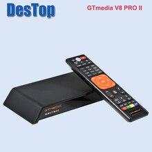 Estoque agora gtmedia v8 pro2 DVB S/s2/s2x, dvb + t/t2/cabo (j83.a/b/c)/isdbt bulit em suporte wi fi completo powervu, dre & biss key