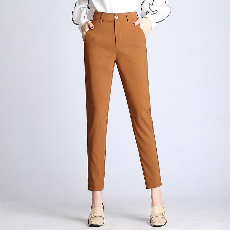 Pantalones Y Casuales Coreana Profesional Verano Suelta Nuevo Pies Tubo Versión Recto De Nueve Primavera La SnWxpn