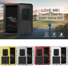 Aluminum Metal Cover For Sony Xperia XZ3 Waterproof Full Body Heavy Duty Armor Case Shockproof