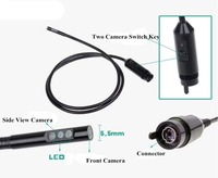 5.5MM Dual Camera (Front Camera and Side View Camera ) Endoscope Pipe For AV Endoscope Camera