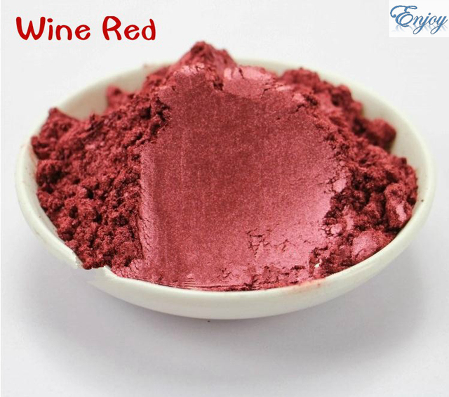 500g/bag  Wine red  Color  Mica powder Pigment Pearl Powder Glitter Pearlescent  Powder For DIY Eyeshadow Decoration.